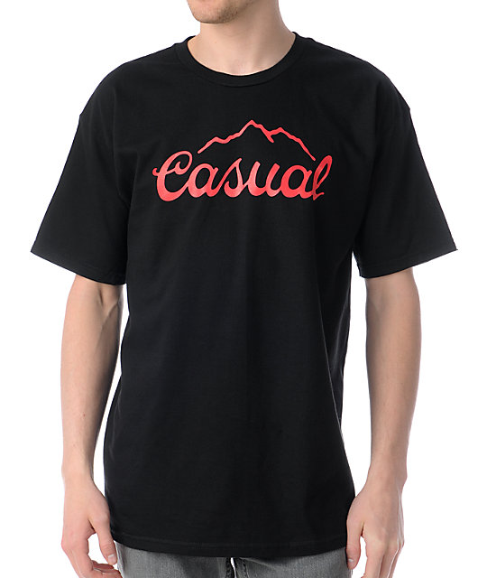 Casual Industrees Tap The Mountain Black T-Shirt