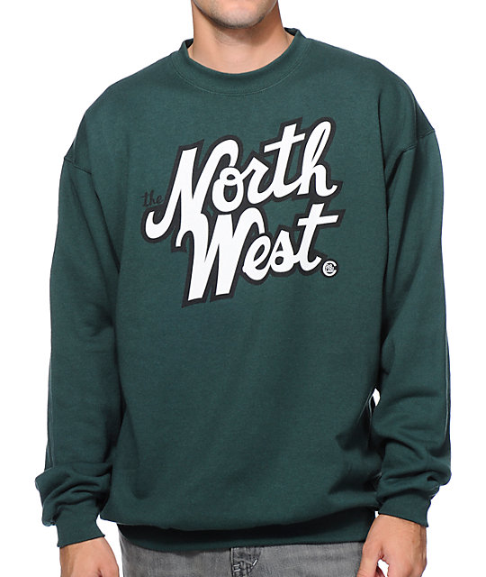 Casual Industrees The Northwest Dark Green Crew Neck Sweatshirt