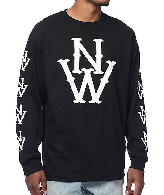 Casual Industrees The Outfielder Black Long Sleeve T-Shirt