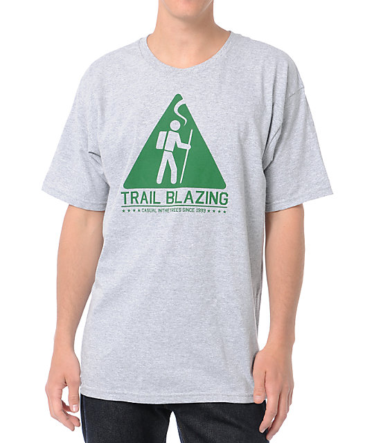 Casual Industrees Trail Blazing Heather Grey T-Shirt