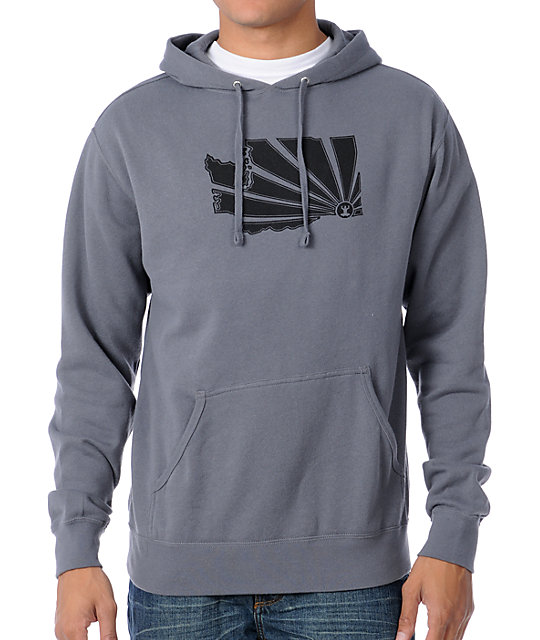 Casual Industrees WA Brah Charcoal Pullover Hoodie