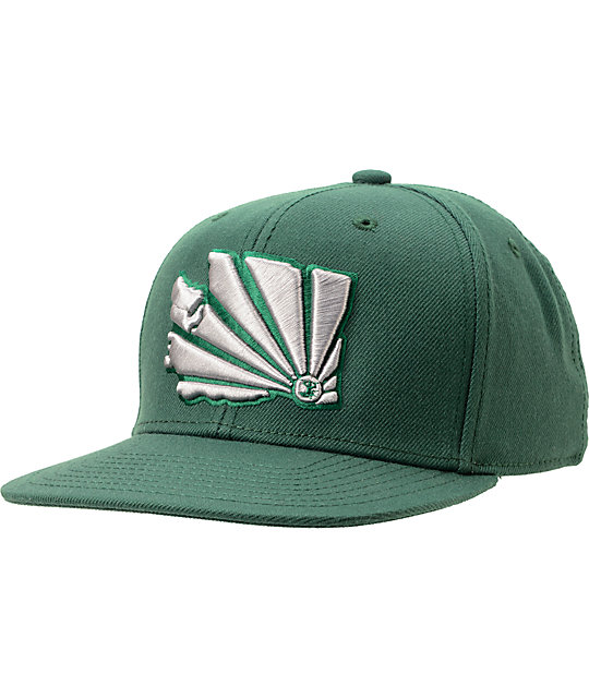 Casual Industrees WA Brah Forest Green Snapback Hat