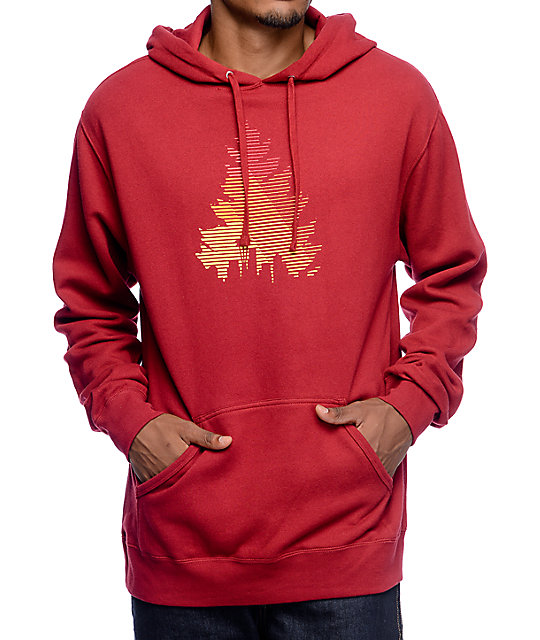 Casual Industrees WA Johnny Tree Red Hoodie