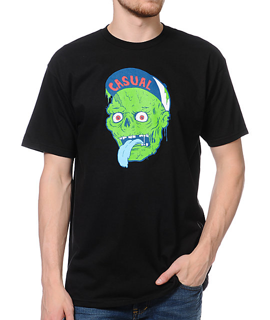 Casual Industrees Zombie Black T-Shirt