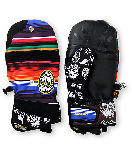 Celtek Day of the Dead Chroma Snowboard Mitten