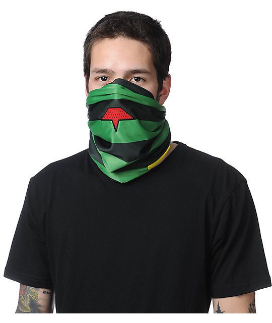 Celtek Heist Rasta 2013 Fleece Lined Face Mask