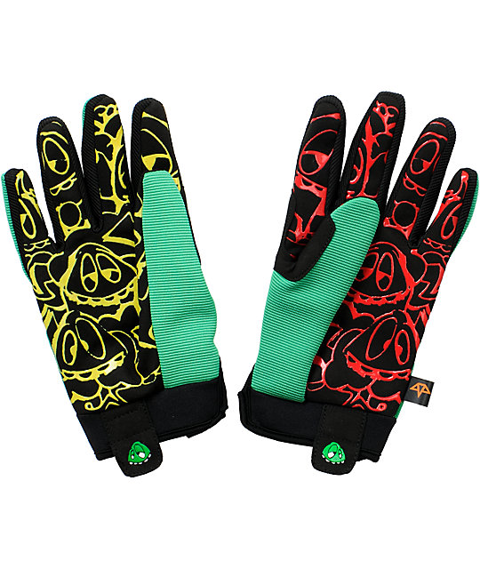 Celtek Misty Rasta Snowboard Gloves