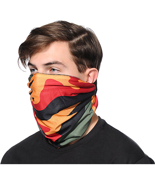 Celtek Scribble Rasta Camo Face Mask