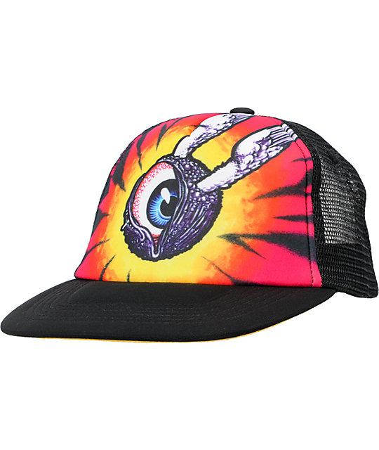 Celtek Tye Dye Eye Black Trucker Hat