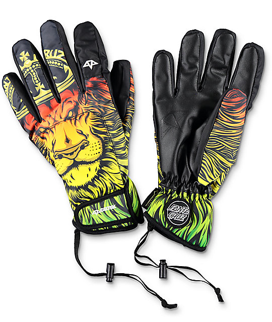 Celtek x Santa Cruz Gore-Tex El Nino Lion Snowboard Gloves