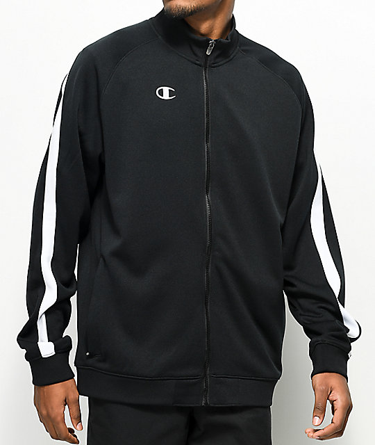 Champion Black & White Track Jacket by Champion
