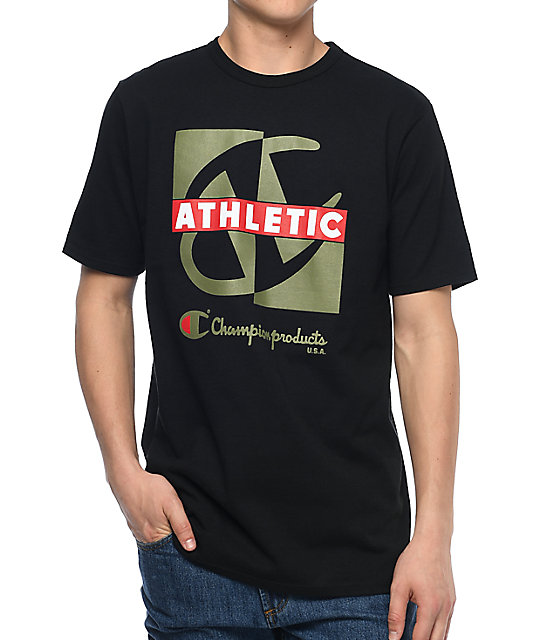 Champion Heritage Crisscross Black T Shirt