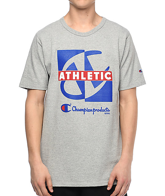 Champion Heritage Crisscross Oxford Grey T Shirt