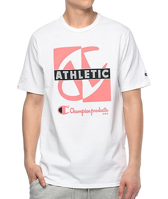 Champion Heritage Crisscross White T Shirt Zumiez