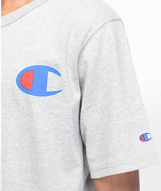 Champion Heritage Patriotic Athletic Grey T-Shirt