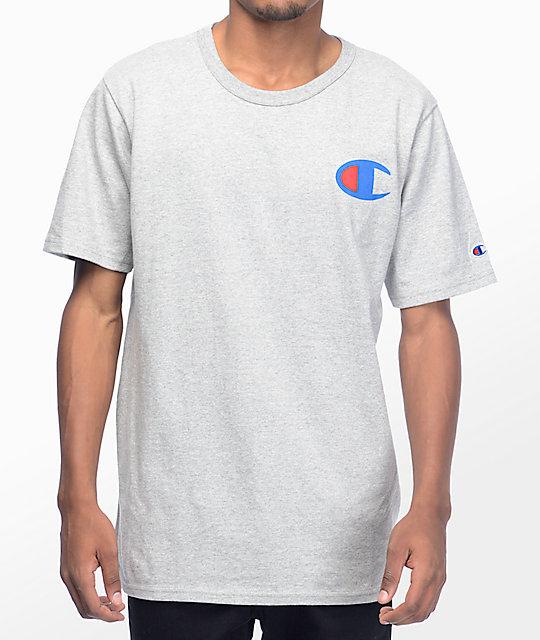 Champion Heritage Patriotic Athletic Grey T Shirt At