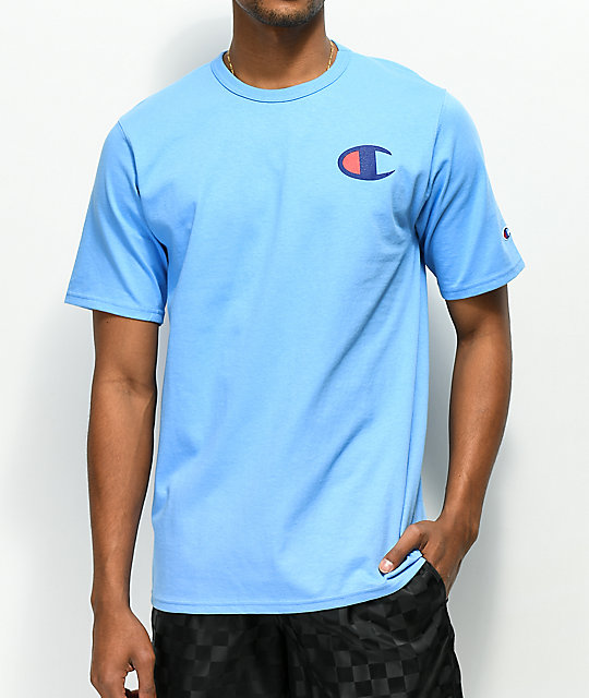 Champion Heritage Patriotic C Swiss Blue T Shirt by Champion