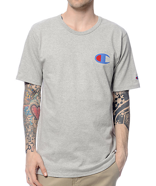 Champion Heritage Patriotic Grey T Shirt