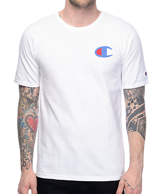 Champion Heritage Patriotic White T Shirt Zumiez