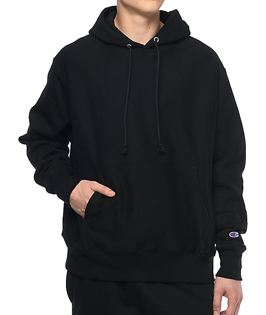 champion reverse weave black hoodie at zumiez pdp. Black Bedroom Furniture Sets. Home Design Ideas