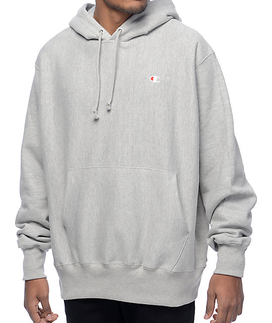 Reverse Weave Heather Grey Hoodie