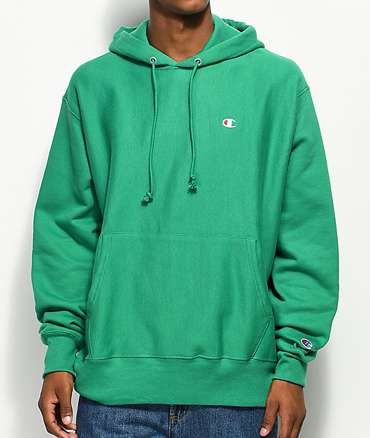 Champion Reverse Weave Kelly Green Hoodie