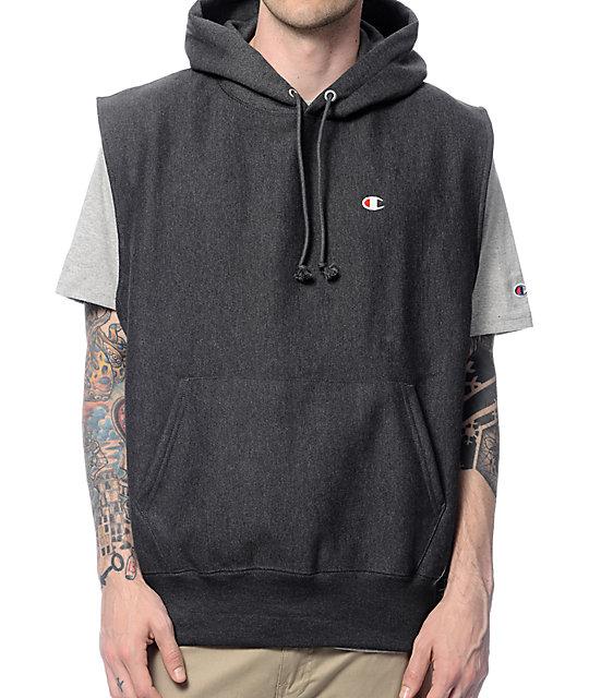Reverse Weave Sleeveless Sweatshirt