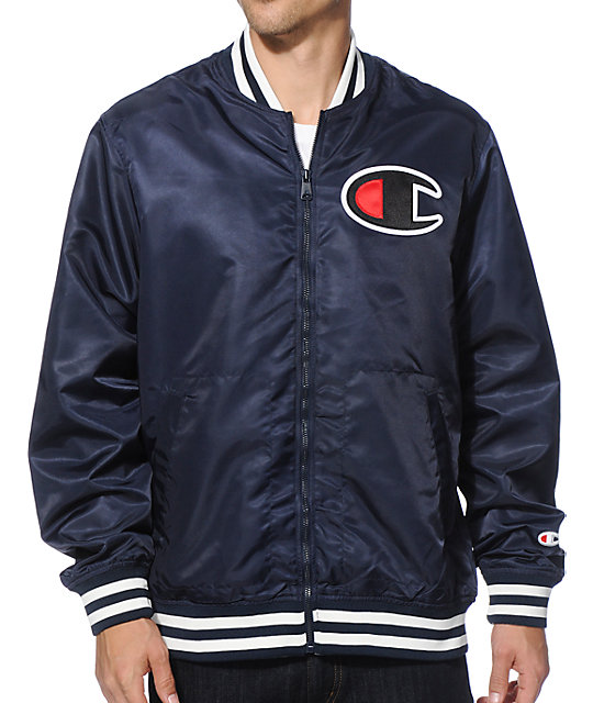 Champion Satin Baseball Jacket | Zumiez
