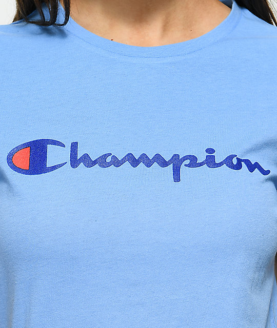 Champion Script Blue T-Shirt