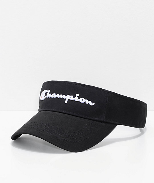 Champion Twill & Mesh Black Visor by Champion