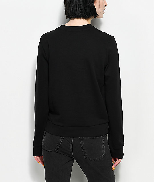 Cheap Monday Win Huge Black Skull Sweatshirt