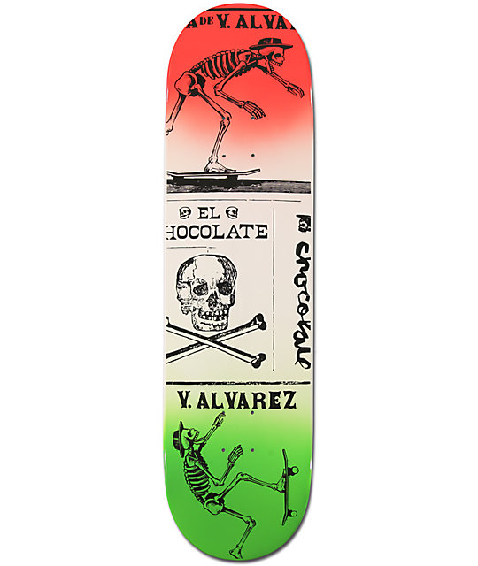 "Chocolate Alvarez El Chocolate 8.25""  Skateboard Deck"