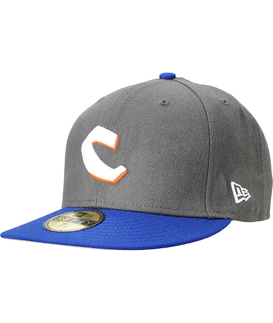 Chocolate C Chunk Grey & Navy Hat