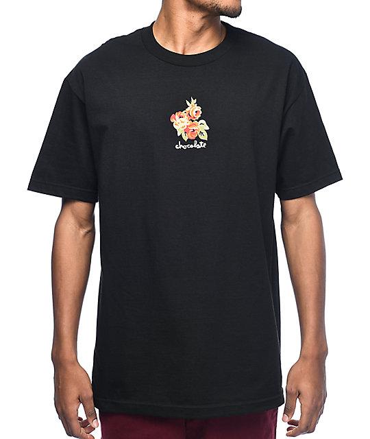 Chocolate Floral Chunk Black T-Shirt