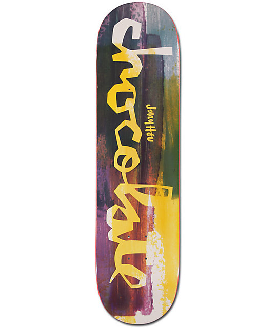 "Chocolate Hsu Hype Paint 8.0""  Skateboard Deck"