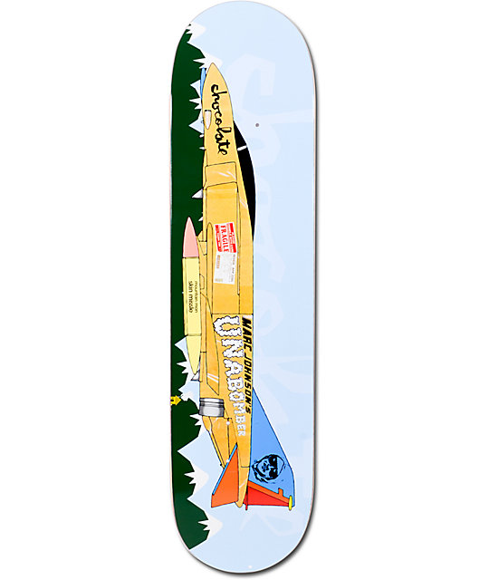 "Chocolate Johnson Fighter Plane 8.0""  Skateboard Deck"