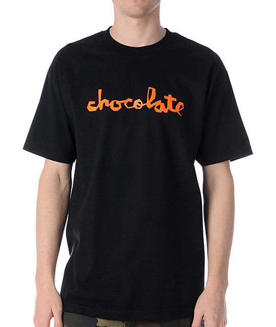 Chocolate Neon Chunk Black T-Shirt