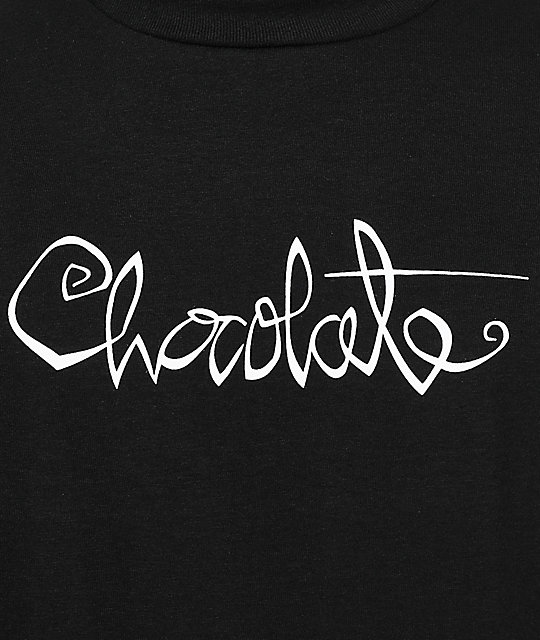 Chocolate Original Script Black T-Shirt