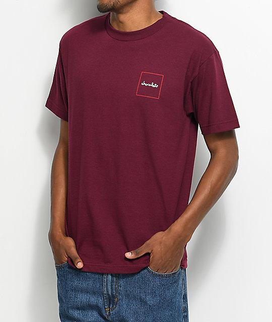 Chocolate Squared Burgundy T-Shirt
