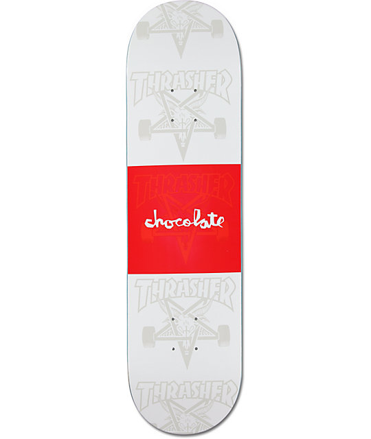 "Chocolate X Thrasher 8.125""  Collaboration Skateboard Deck"
