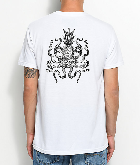 Chomp Octopineapple White T-Shirt
