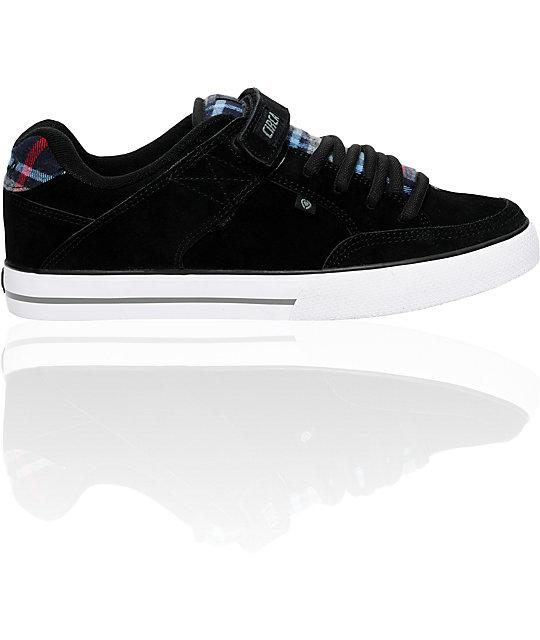 Circa 205 Vulc Black & Navy Plaid Shoes