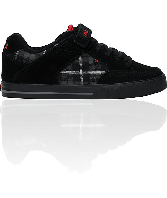 Circa 205 Vulc Black & Plaid Skate Shoes
