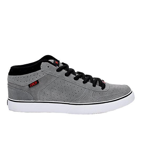 Circa 8 Track Grey, Black & Red Shoes