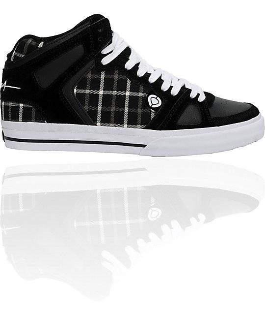 Circa 99Vulc Black & White Plaid Shoes