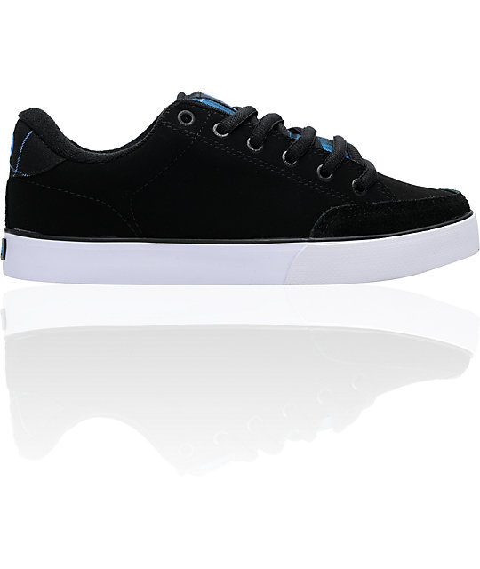 Circa AL 50 Black & Blue Plaid Nubuck Skate Shoes