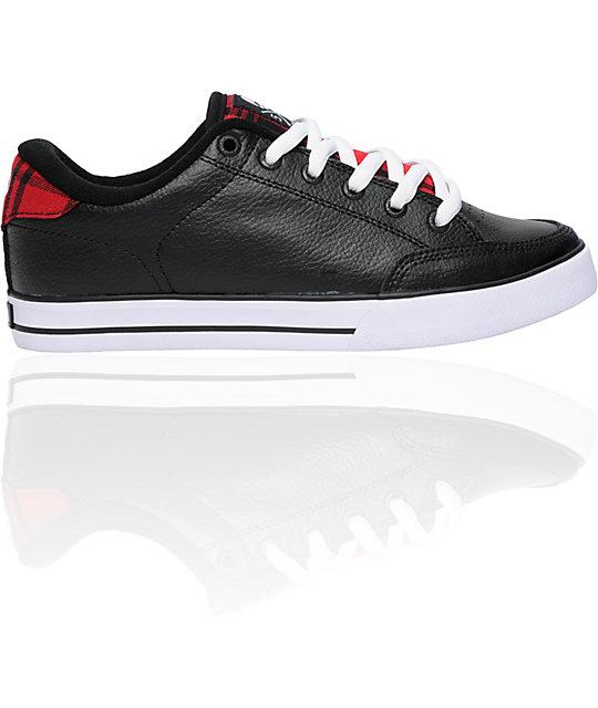 Circa AL 50 Black & Red Plaid Skate Shoes