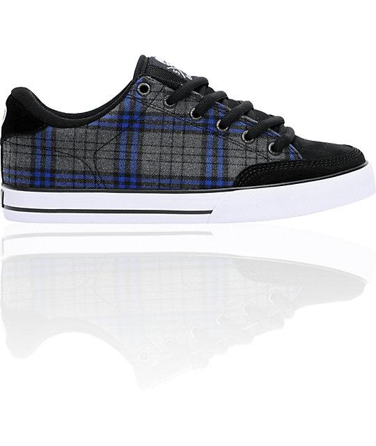 Circa AL 50 Black & Royal Plaid Skate Shoes