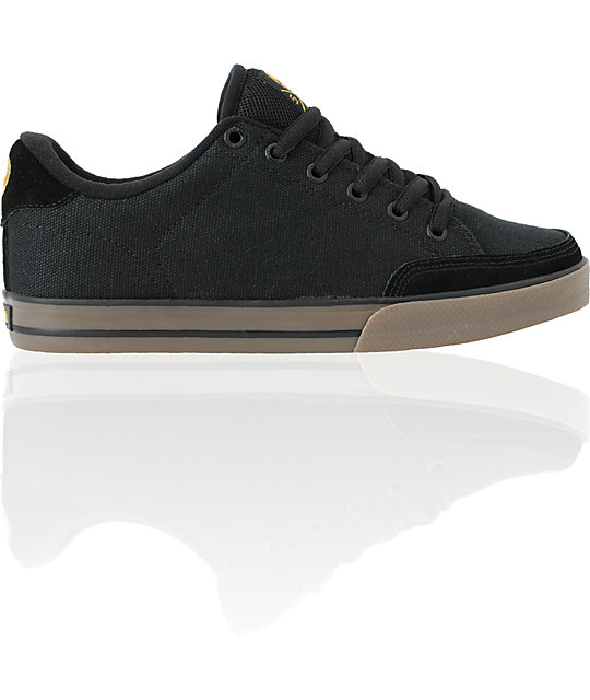 Circa AL 50 Black Canvas Skate Shoes