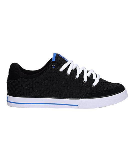 Circa AL 50 Weave Black, White & Royal Blue Shoes